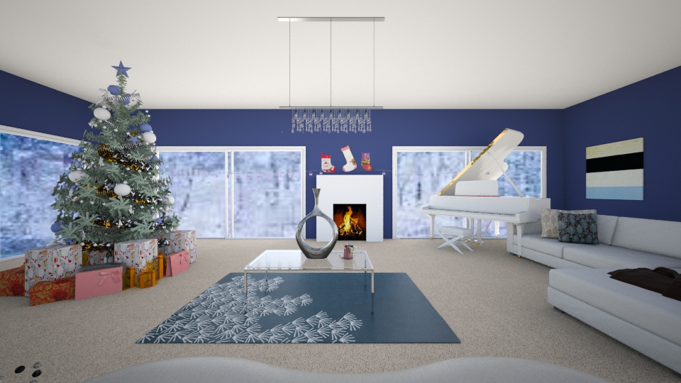 Winter Wonderland - Living room - by eaziz