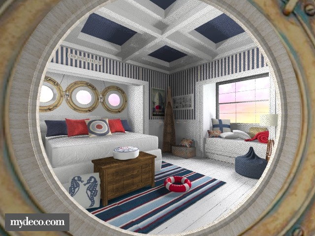 Through the porthole - Bedroom - by ATOMIUM