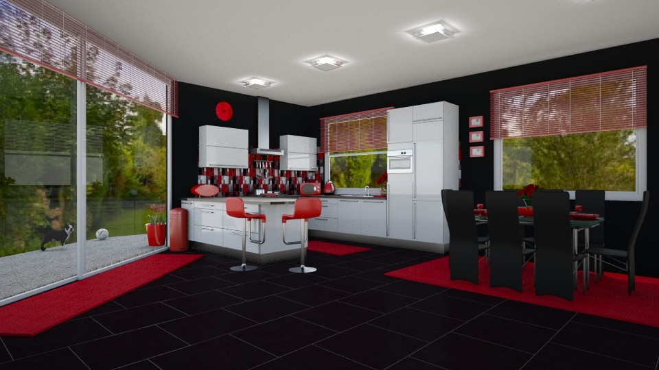 Red Black Kitchen - by creato