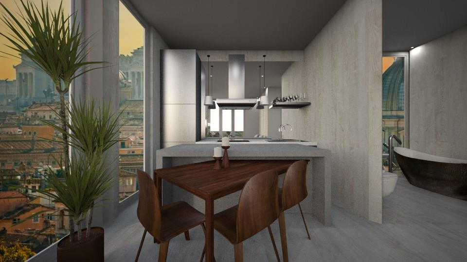 Casa233KitchenandDining - Modern - Dining room - by nickynunes