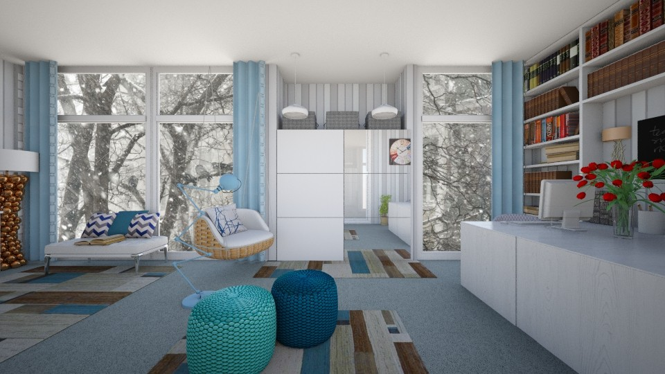 twin - Bedroom - by Syrine Ben Maktouf