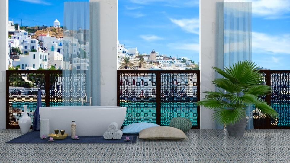 Bathroom In Greece - Bathroom - by bgref