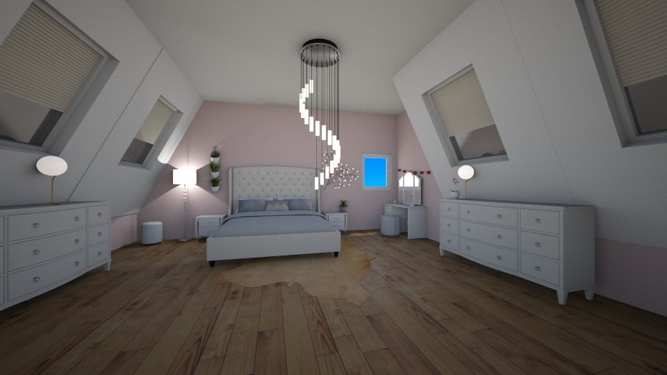 attic bedroom - Bedroom - by 16phowarthx