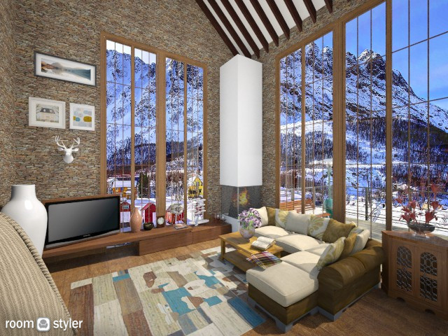 mountain - Living room - by demetra019