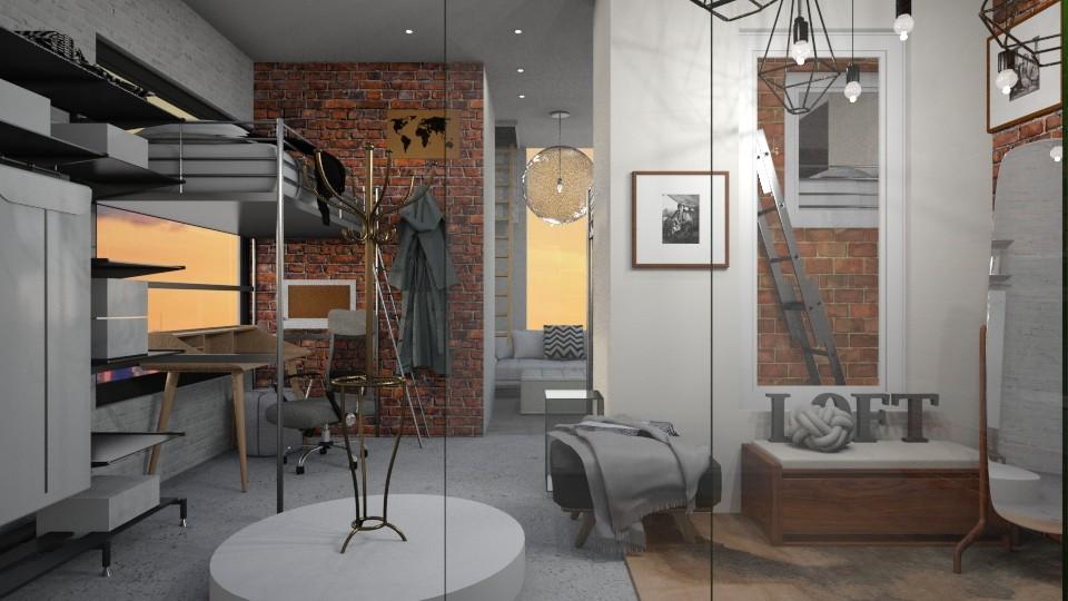 Bricks n Ladders  - Eclectic - Living room - by RedPandaRooms