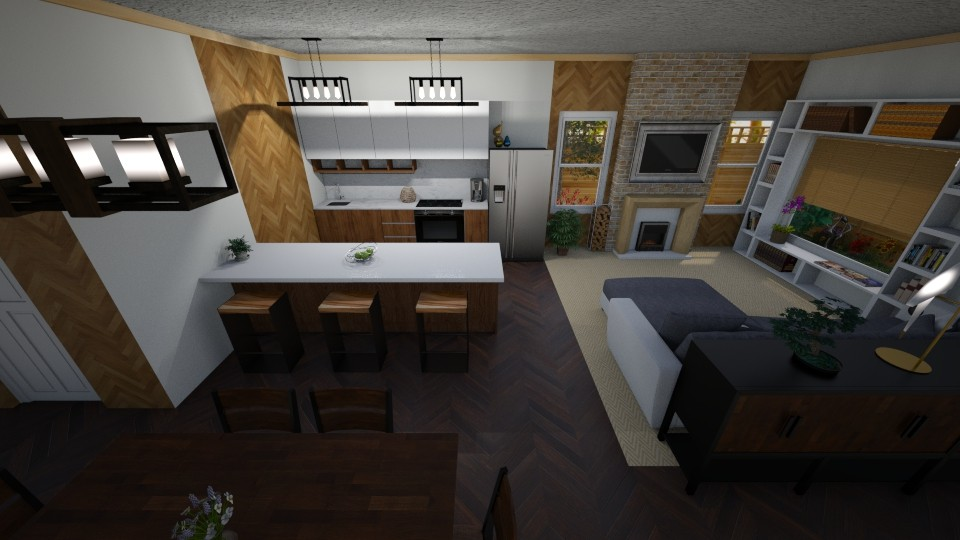 Livingroom Dinningroom - by June Thomas