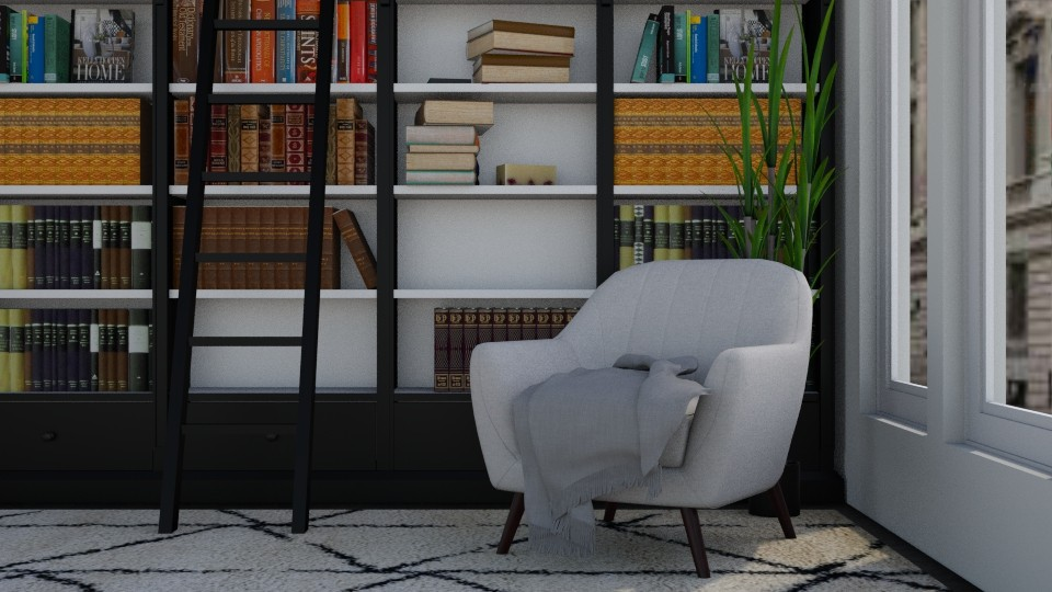 Library Corner - Living room - by millerfam