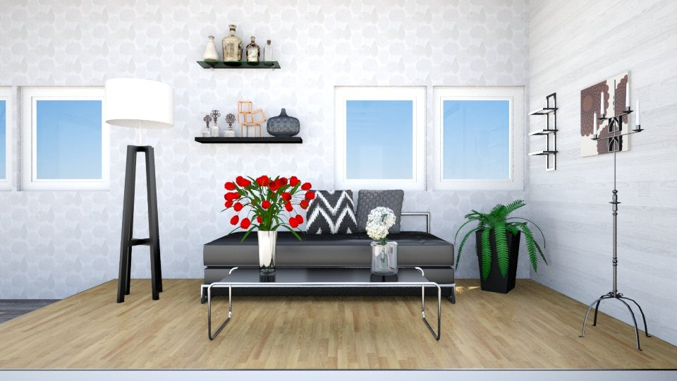 black corner - Living room - by tvirandie