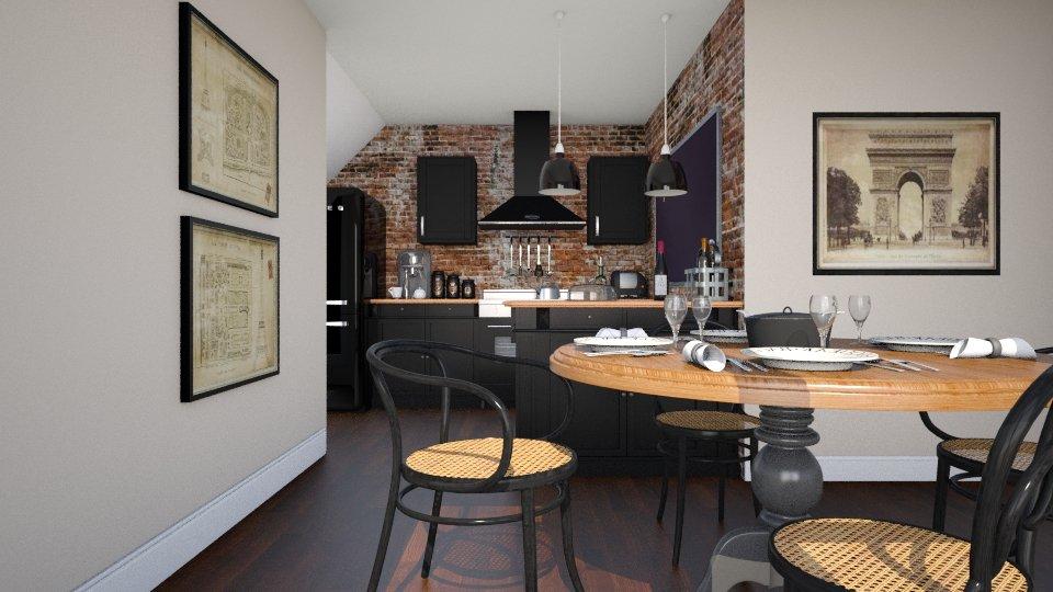 Bistro Style Kitchen - by Valentinapenta