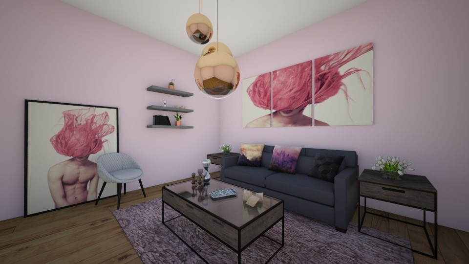 Pink Living - Living room - by LaughingDonut