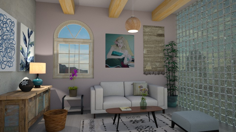 Something Blue - Living room - by Sally Simpson