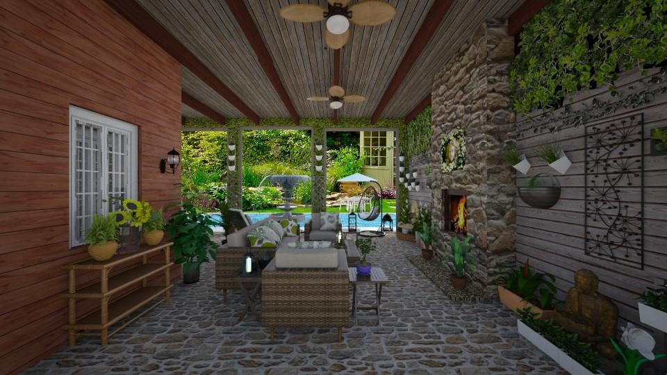 Garden Patio - by Kelly Carter