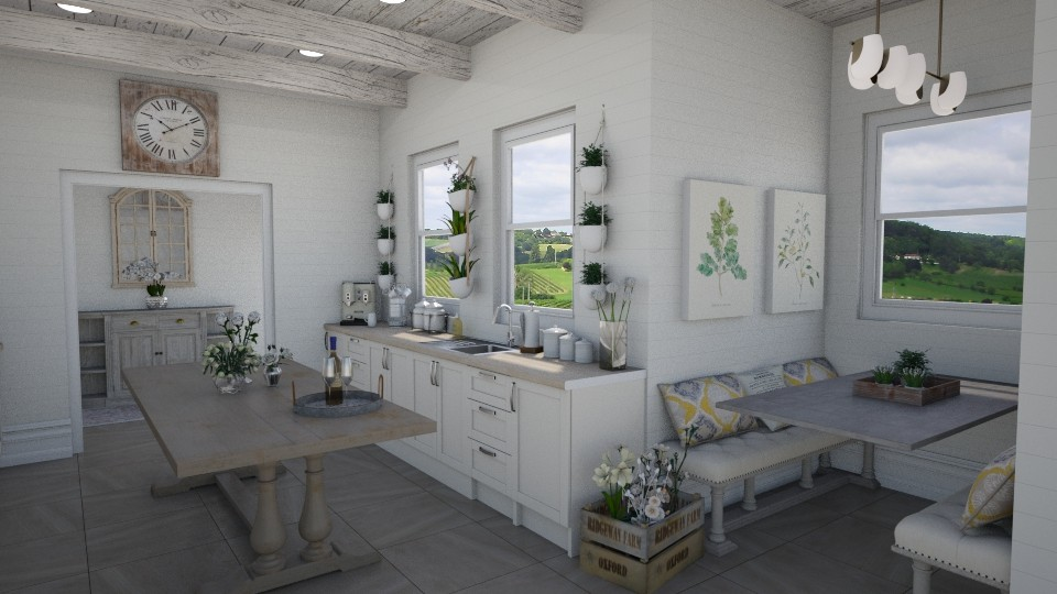 Farmhouse Kitchen - by Samantha Krug