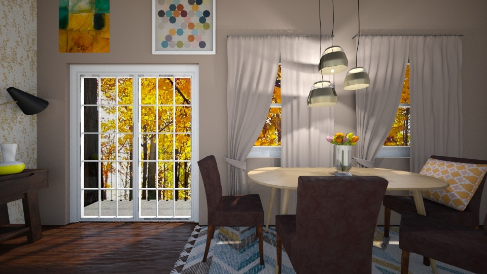 Yellow Leaves - Dining room - by ElieK