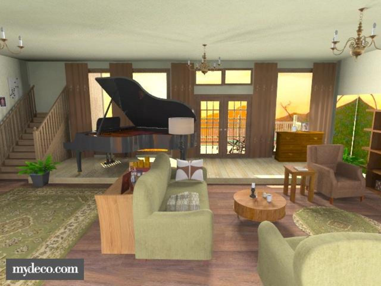 Two And A Half Men Livingroom Rustic Living Room By Lenii