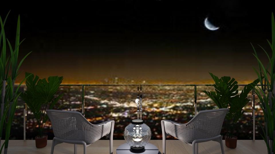 Cityscape Night Balcony - Classic - by millerfam