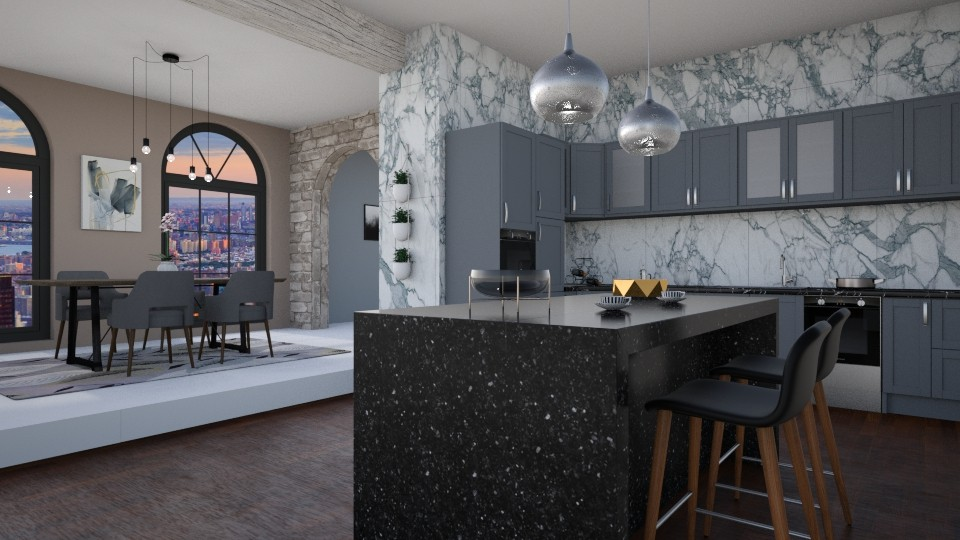 marble - Kitchen - by Brianna_322