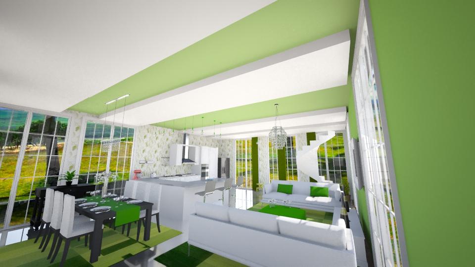 verdinho chic - Dining room - by marcela tamires