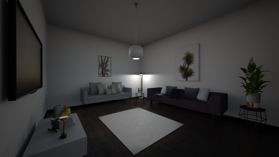 Black and White - Minimal - Living room - by janelleyc3