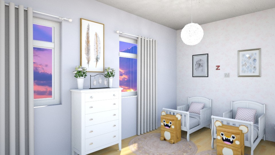 twins are home  - Feminine - Bedroom - by zayneb_17