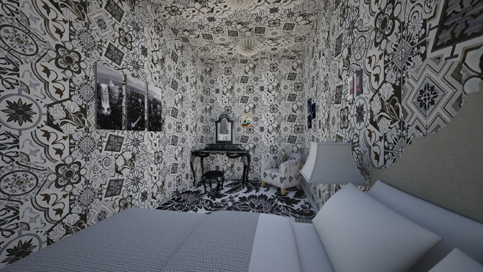 Black and white - Eclectic - Bedroom - by Jillian Callis