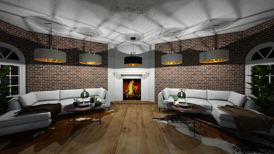 rustic livingroom - Rustic - Living room - by thelmatt