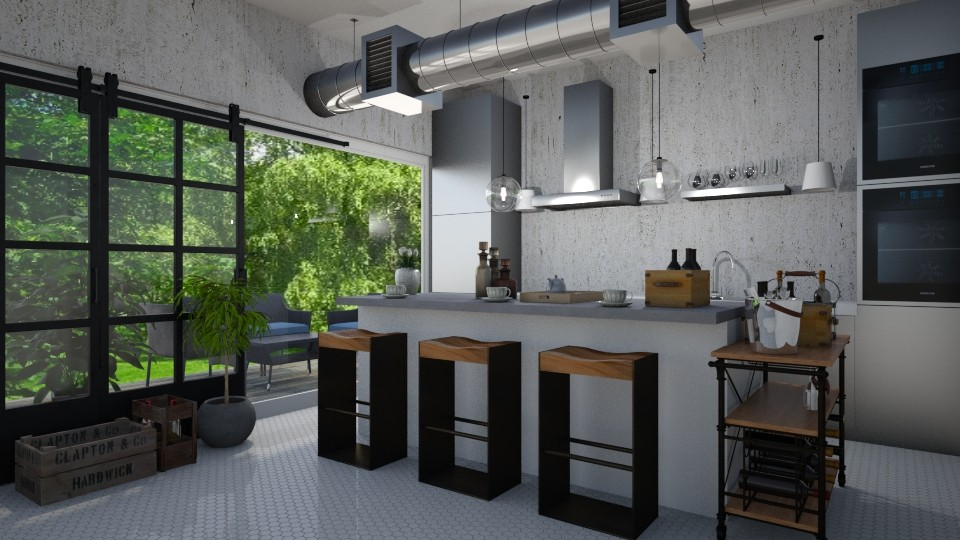 grey kitchen  - by gvidiani_nina