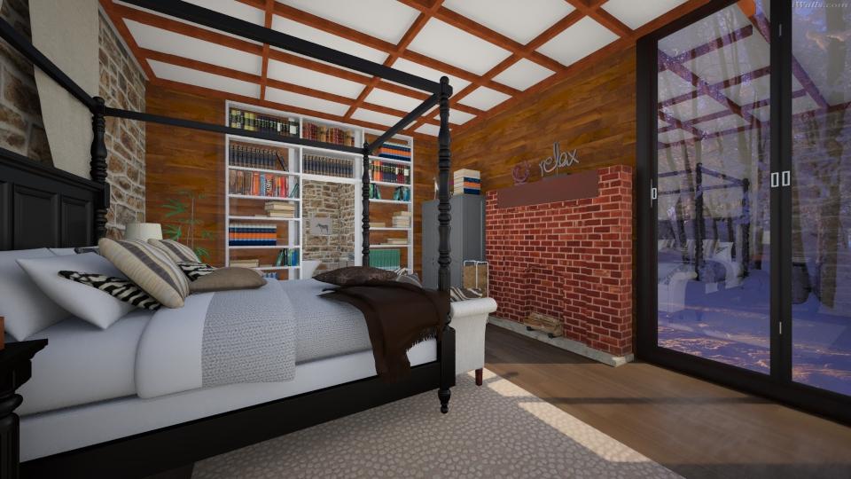 Warm Cozy Bedroom - Bedroom - by nellica