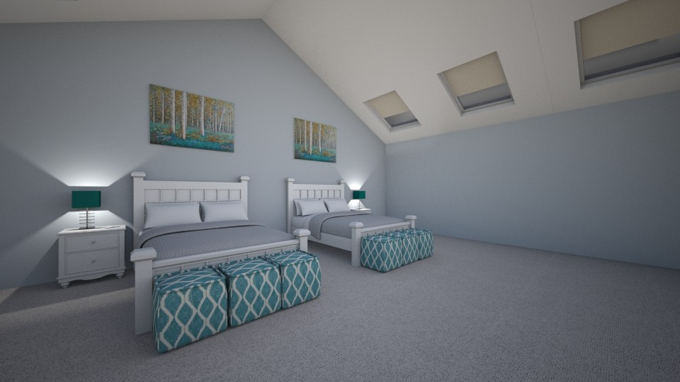 Attic Guest Room - Bedroom - by Volleyball2018