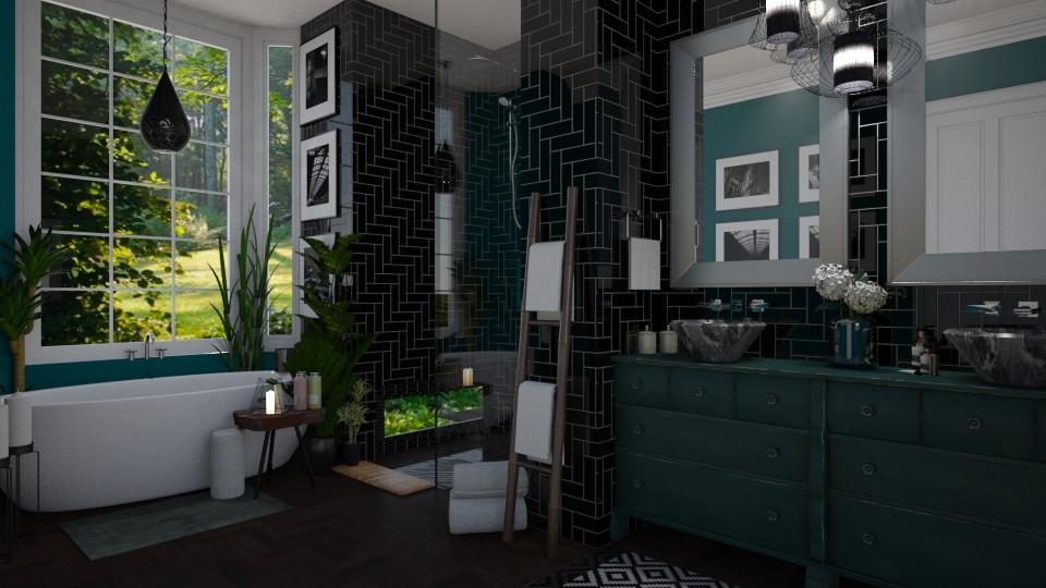 Dark Bathroom - Bathroom - by rachaelp636