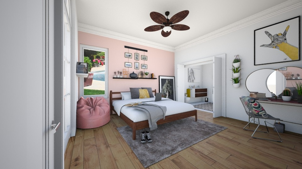 homey bedroom - Feminine - Bedroom - by Zoe_ty