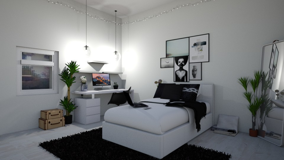 my bedroom rn - Modern - Bedroom - by LMR