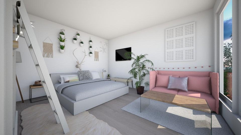 fresh modern bedroom - Bedroom - by Kylie Gallant