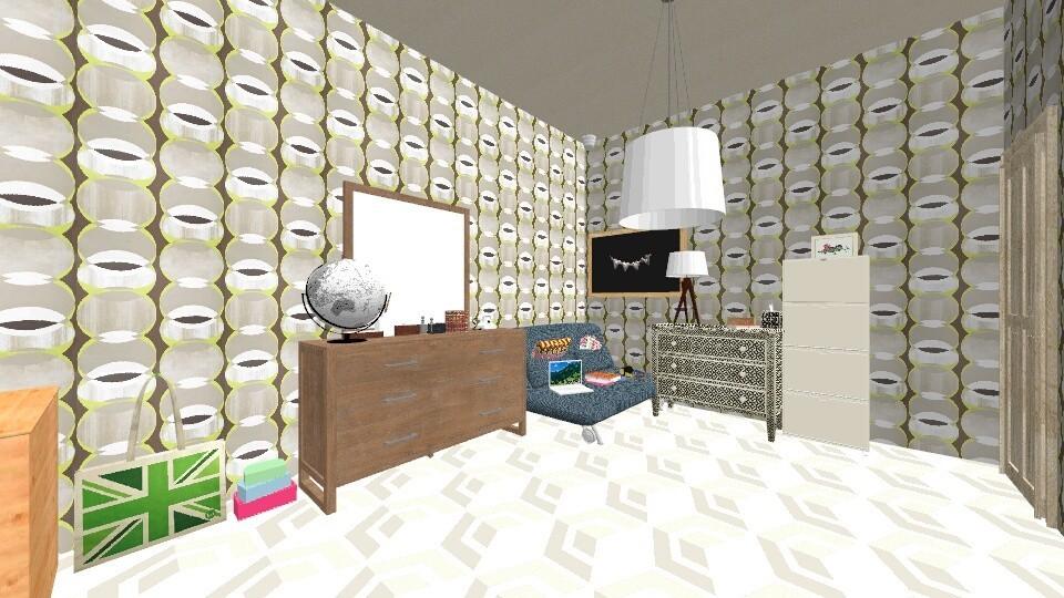 Geometric bedroom - Country - Bedroom - by Shoe690