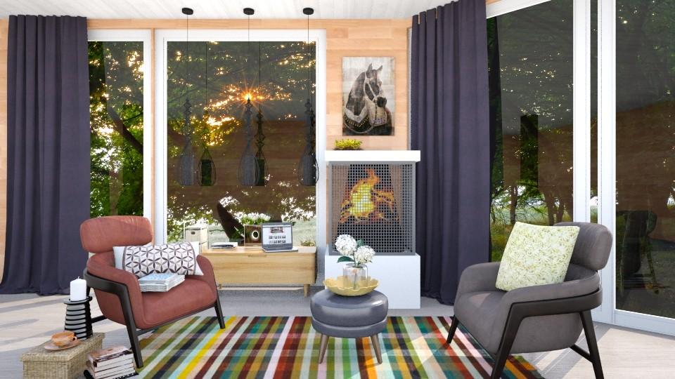 cabin in the woods - Living room - by Inokentijroom