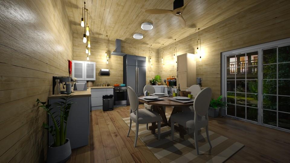kitchen on the lake - Kitchen - by joja12345678910