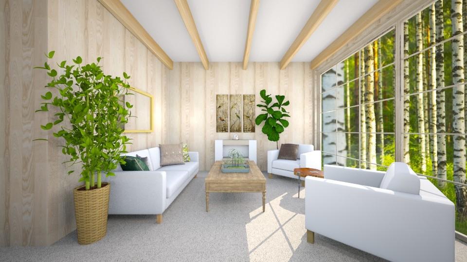 woood - Living room - by jjannnii