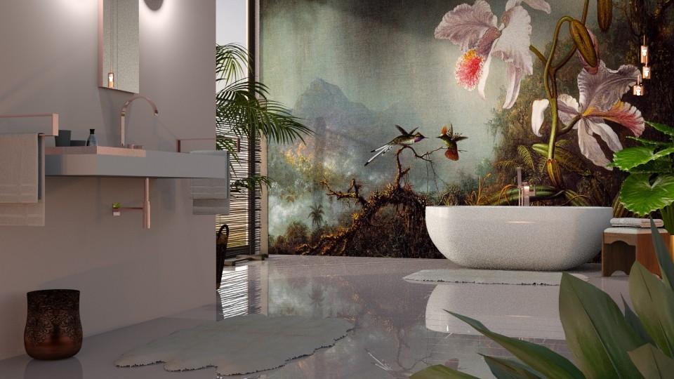 Martin Johnson Heade - Bathroom - by GraceKathryn