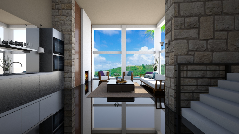 Island view - Living room - by Kate_141
