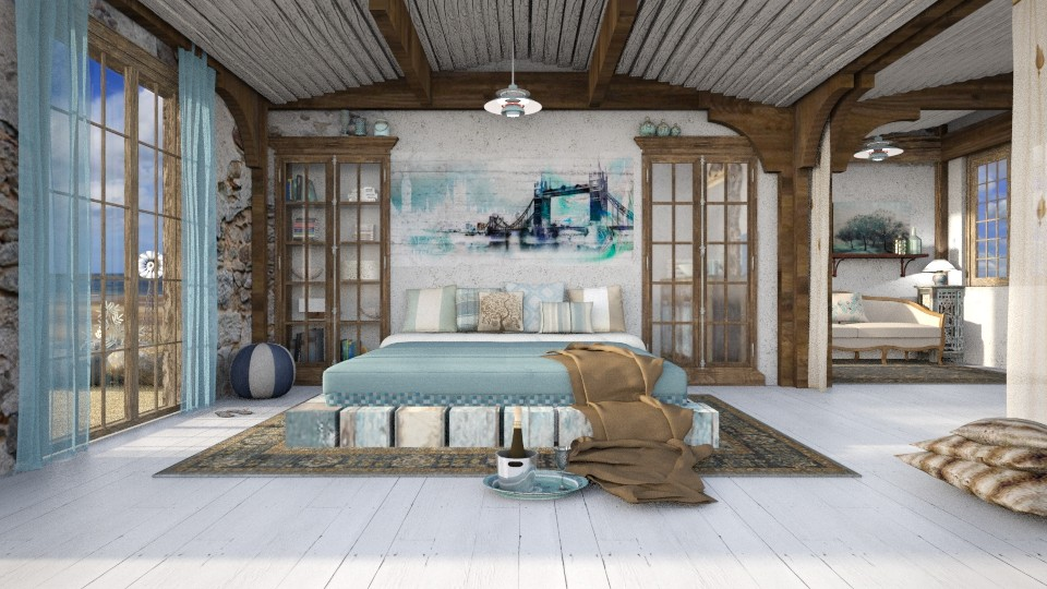 sea glass and driftwood - Vintage - Bedroom - by starsector