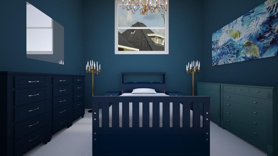 blue room - Modern - Bedroom - by annejadetjenl