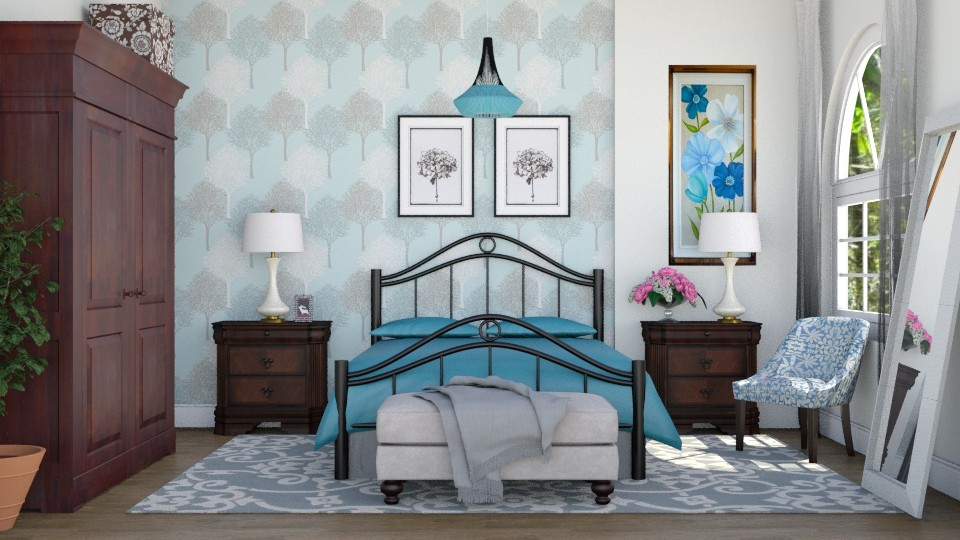 Quarto azul - Bedroom - by Alecio