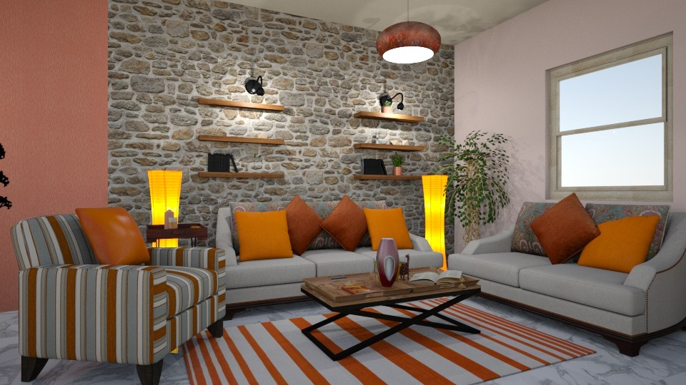 orange - Modern - Living room - by aleksandra2007