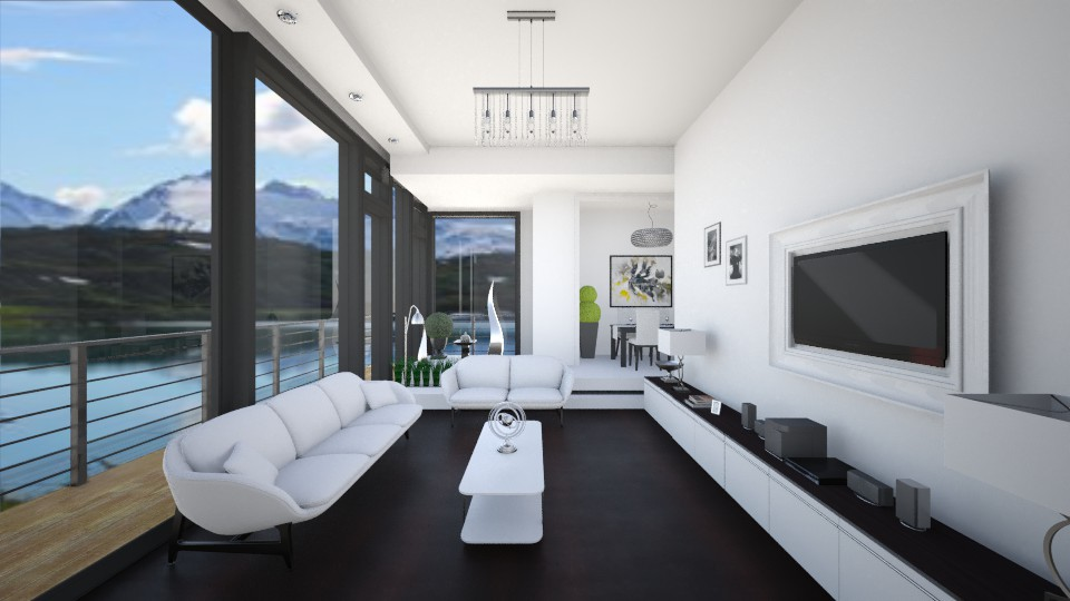 White on dark wood - Modern - Living room - by Linda Koen_326