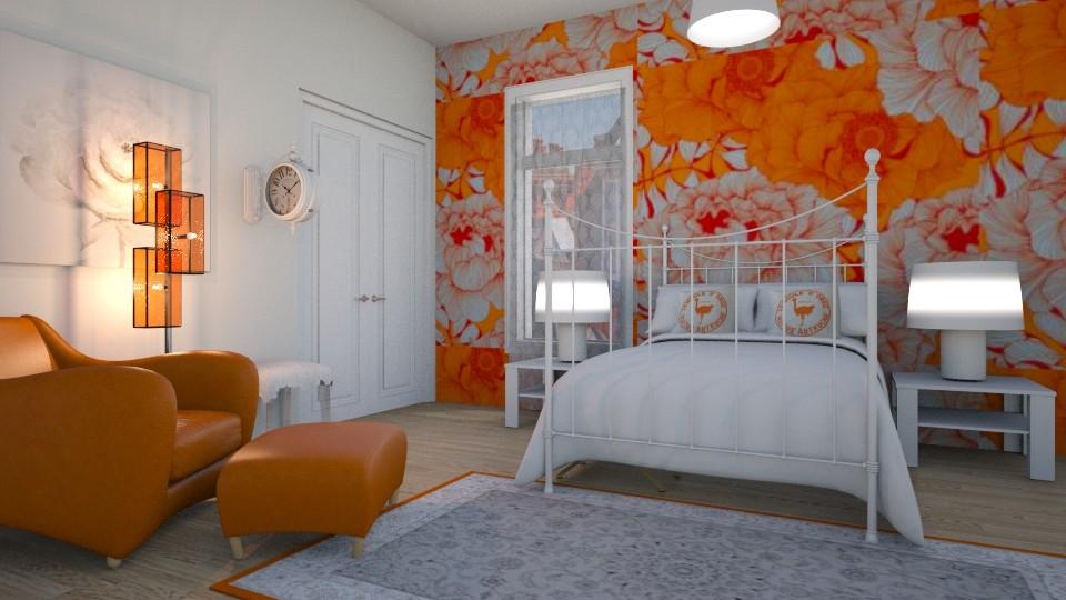 orange bedroom - by BortikZemec