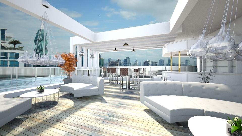 Rooftop Bar - by Gener Morales