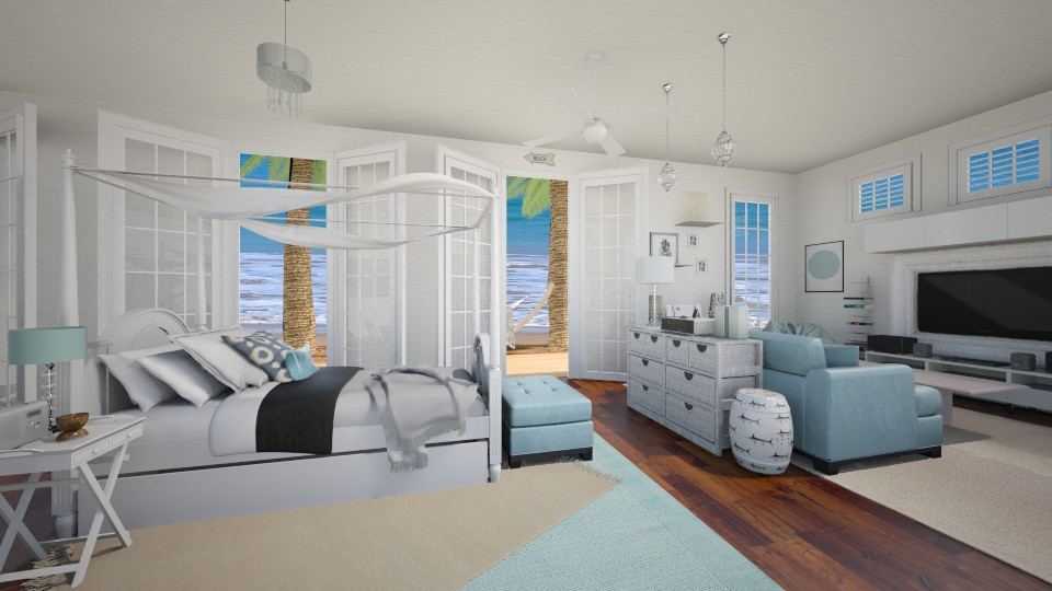 malibu - Bedroom - by minervinoi