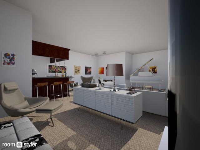 sleek and modern - Modern - Living room - by Charlotte Aliceee