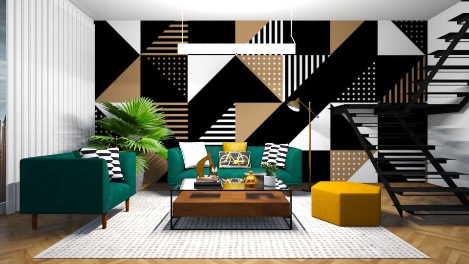 geometric livingroom - Living room - by jagwas