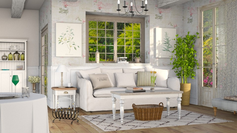 French Country Life 2 - Living room - by Sally Simpson
